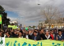 حضور با شکوه مردم گناباد در راهپیمایی ۲۲ بهمن