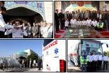 اعزام اتوبوس آمبولانس گناباد برای امداد رسانی به زائرین اربعین