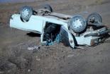 واژگونی دو خودرو سواری در جادههای روستایی گناباد