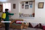منازل خانواده شهدا توسط بسیجیان گناباد ضدعفونی شد + تصاویر